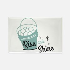Rise and shine eggs Magnets