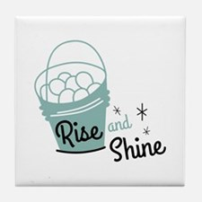 Rise and shine eggs Tile Coaster