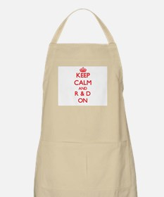 Keep Calm and R & D ON Apron