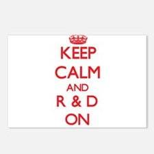 Keep Calm and R & D ON Postcards (Package of 8)