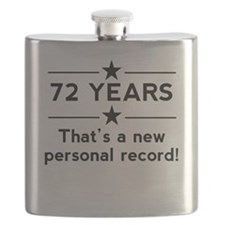 72 Years New Personal Record Flask