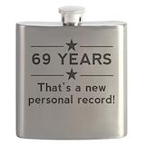 Funny 69th birthday Flasks