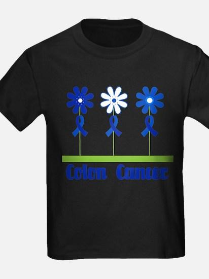 Colon Cancer Flowered T-Shirt