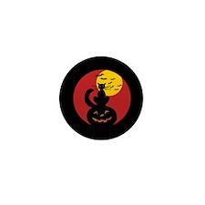 Black Cat w/ Moon Mini Button (10 pack)