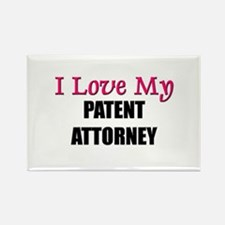 I Love My PATENT ATTORNEY Rectangle Magnet