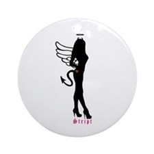 Standing Silhouette Angel Ornament (Round)