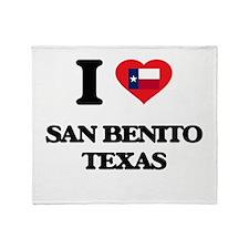 I love San Benito Texas Throw Blanket