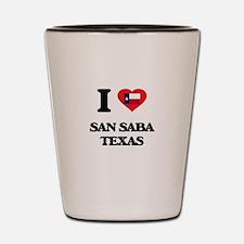 I love San Saba Texas Shot Glass