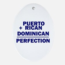 Dominican + Puerto Rican Oval Ornament