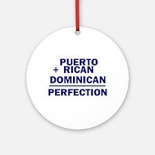 Dominican + Puerto Rican Ornament (Round)