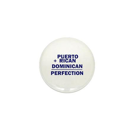 Dominican + Puerto Rican Mini Button