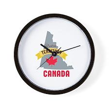 Yukon Territory Canada Wall Clock