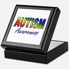 Autism Awareness Keepsake Box