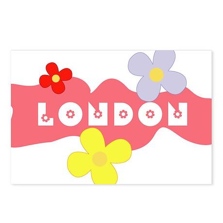 London Flowers Postcards (Package of 8)