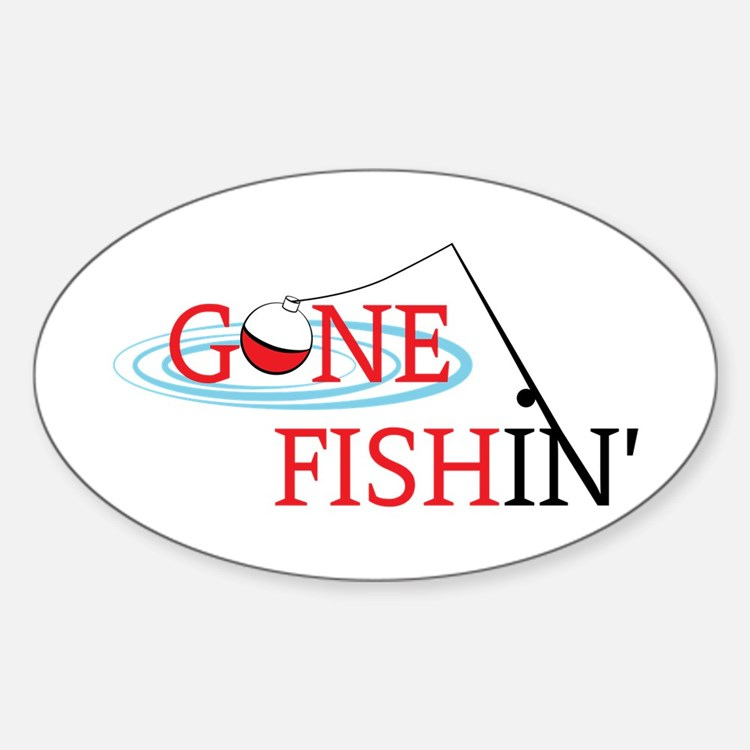 Fishing pole bumper stickers car stickers decals more for Fishing stickers and decals