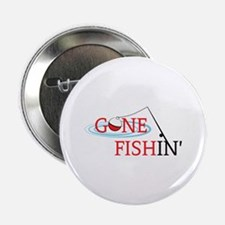 "Gone fishing bobber and fishing pole 2.25"" Button"