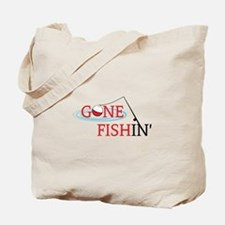 Gone fishing bobber and fishing pole Tote Bag
