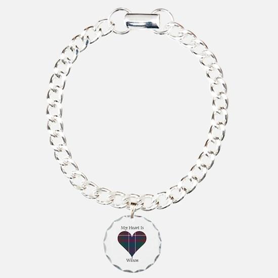 Heart-Wilson Charm Bracelet, One Charm