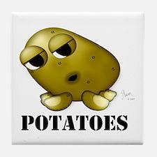 Potato Head with Toes Tile Coaster