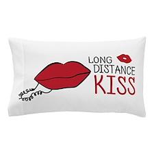 Long distance kiss lips phone Pillow Case