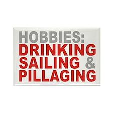 Drinking, Sailing, Pillaging Rectangle Magnet