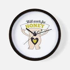 Will work for honey bear Wall Clock