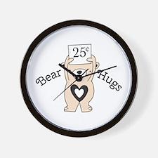 Bear hugs Wall Clock