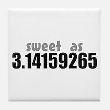 Sweet as Pi Tile Coaster