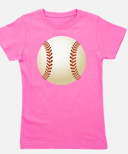 Baseball Ball Girl's Tee