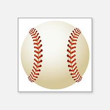 "Baseball Ball Square Sticker 3"" x 3"""