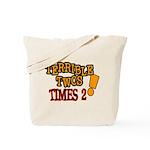 Terrible Twos - Times 2! Tote Bag