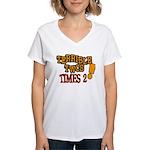 Terrible Twos - Times 2! Women's V-Neck T-Shirt