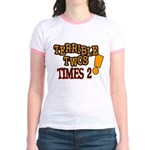Terrible Twos - Times 2! Jr. Ringer T-Shirt