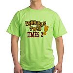 Terrible Twos - Times 2! Green T-Shirt