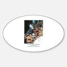 Abenaki Warrior Oval Decal