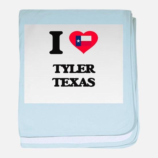 I love Tyler Texas baby blanket