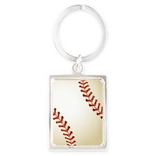 Baseball Ball Portrait Keychain