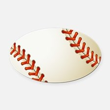 Baseball Ball Oval Car Magnet