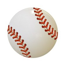 Baseball Ball Round Ornament