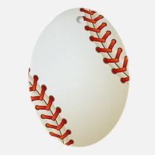 Baseball Ball Oval Ornament