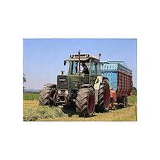Tractor at work on El Camino, Spain 5'x7'Area Rug