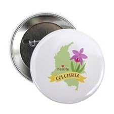 Colombia Country Map Orchid Flower Bogota Capital