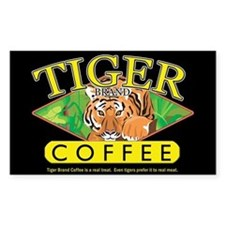 Tiger Brand Coffee Rectangle Decal