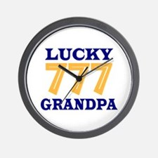 Lucky Grandpa Wall Clock