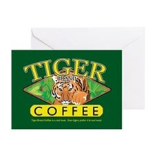 Tiger Brand Coffee Greeting Cards (Pk of 10)