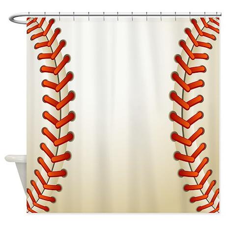 Baseball Ball Shower Curtain