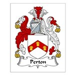 Perton Family Crest Small Poster