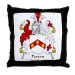 Perton Family Crest Throw Pillow