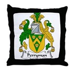 Perryman Family Crest Throw Pillow