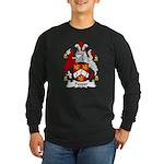 Pepper Family Crest Long Sleeve Dark T-Shirt